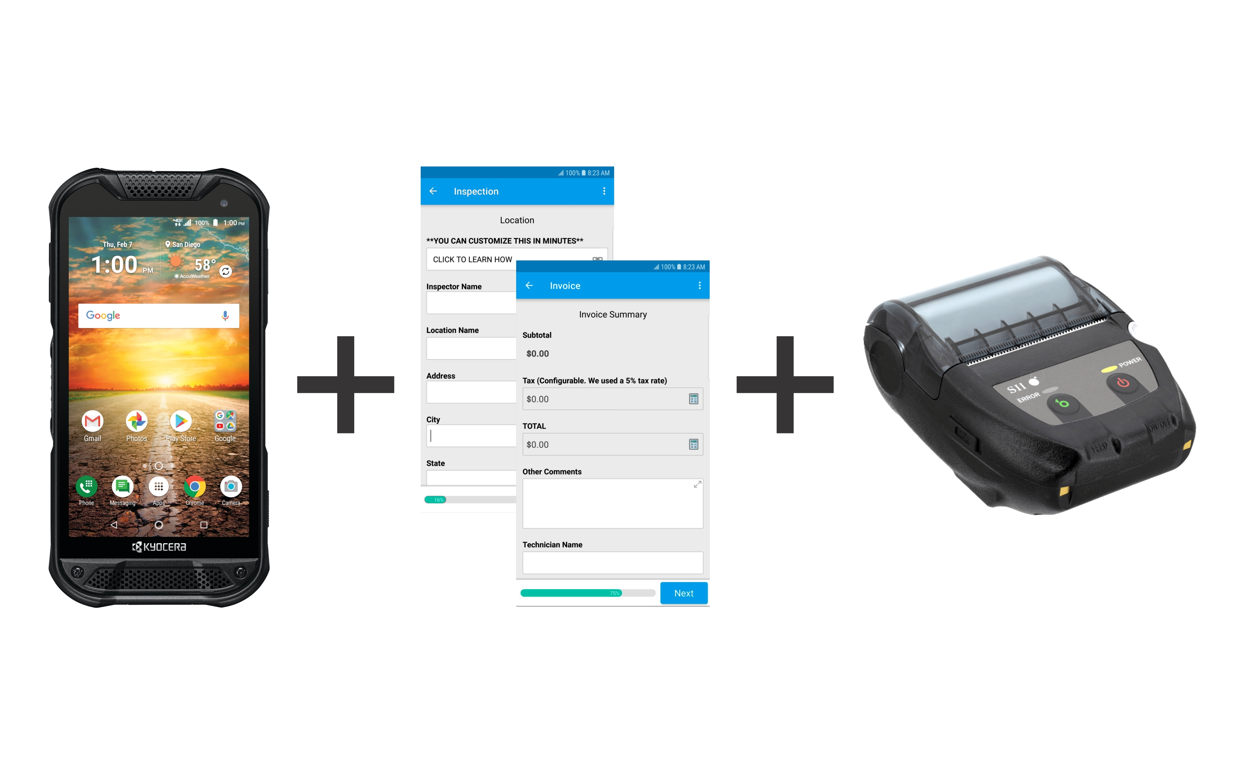 KYOCERA, SEIKO INSTRUMENTS AND GOCANVAS Launch Unique Mobile Printing Solution For Rugged Work Environments