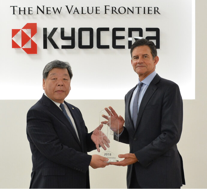 KYOCERA Named Among Derwent Top 100 Global Innovators by Clarivate Analytics